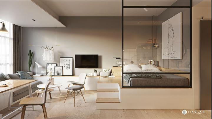 Ý tưởng thiết kế căn hộ kiểu studio 25m² nhỏ xinh, chất ngất ai nhìn cũng mê tít - Ảnh 1