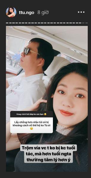 Sau gần 3 tháng kết hôn, Á hậu Thanh Tú khoe chồng hơn 16 tuổi cực tâm lý - Ảnh 2