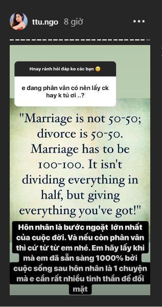 Sau gần 3 tháng kết hôn, Á hậu Thanh Tú khoe chồng hơn 16 tuổi cực tâm lý - Ảnh 3