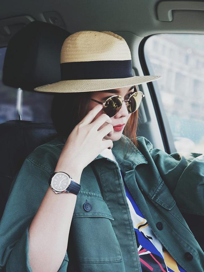 Học sao Việt cách chọn và kết hợp mũ cói sao cho thật duyên dáng khi diện cùng trang phục hè - Ảnh 12