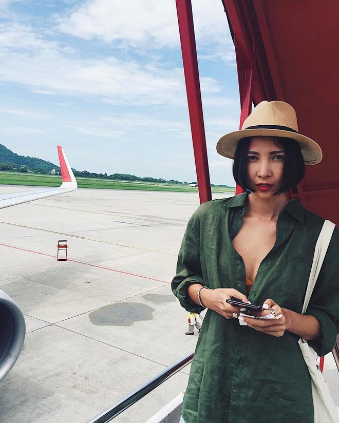 Học sao Việt cách chọn và kết hợp mũ cói sao cho thật duyên dáng khi diện cùng trang phục hè - Ảnh 13