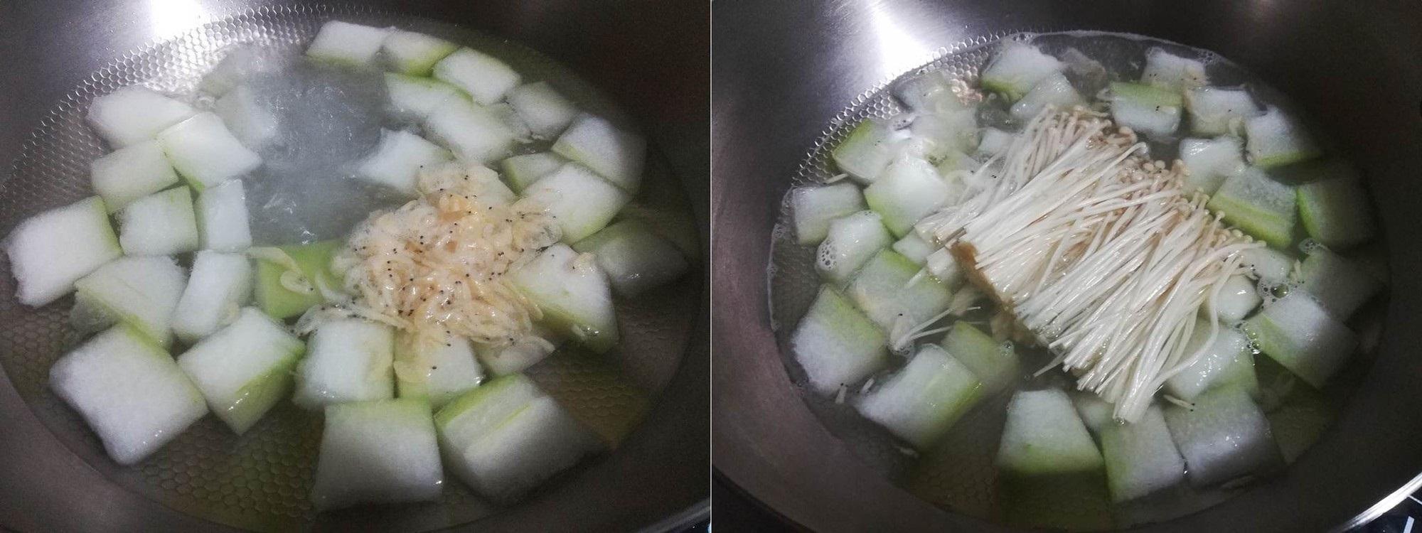 Ngọt lành thanh mát canh bí đao nấu nấm - Ảnh 3