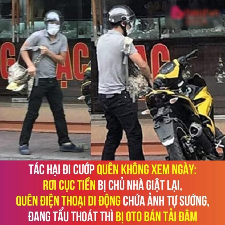 Kẻ cướp tiệm vàng Lương Oanh mặt tái mét, thất thần ở trụ sở công an - Ảnh 3