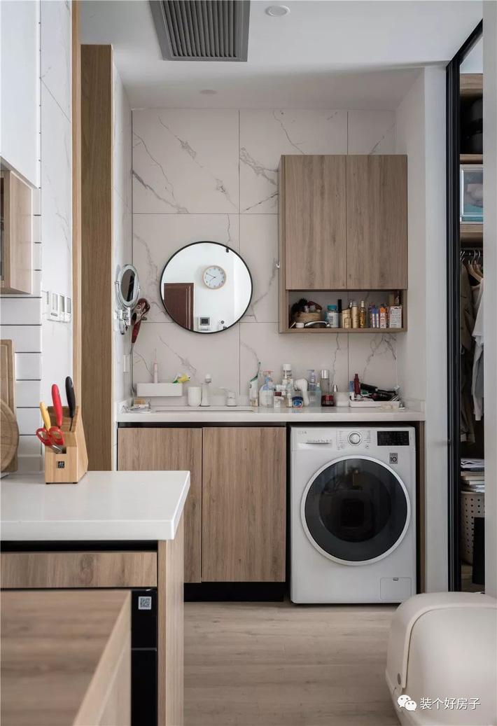 Căn hộ 60m² 'ghi điểm' với cách thiết kế và bố trí nội thất rất khoa học của cặp vợ chồng trẻ - Ảnh 5