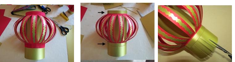 Tự làm đèn lồng giấy ngày Tết đơn giản