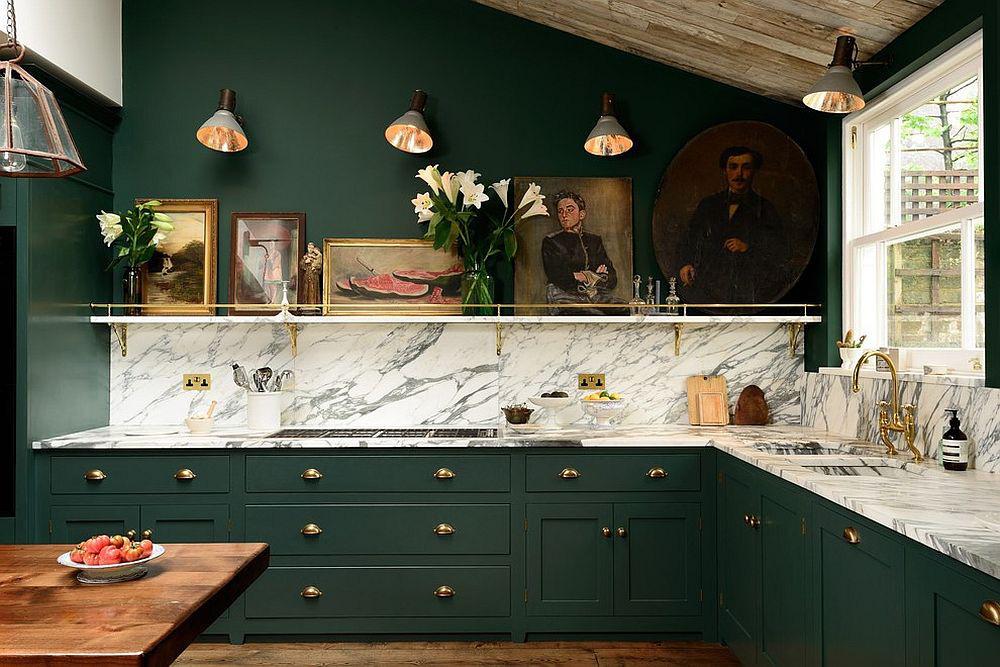 Những gam xanh tối màu tuyệt đẹp cho căn bếp hiện đại: Sạch, nổi bật và sang trọng khi kết hợp khéo léo với gam màu trắng và ánh sáng đèn trang trí - Ảnh 1