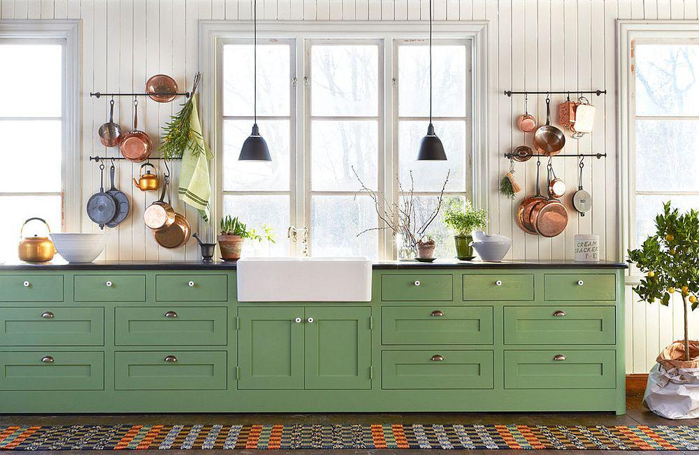 Những gam xanh tối màu tuyệt đẹp cho căn bếp hiện đại: Sạch, nổi bật và sang trọng khi kết hợp khéo léo với gam màu trắng và ánh sáng đèn trang trí - Ảnh 2