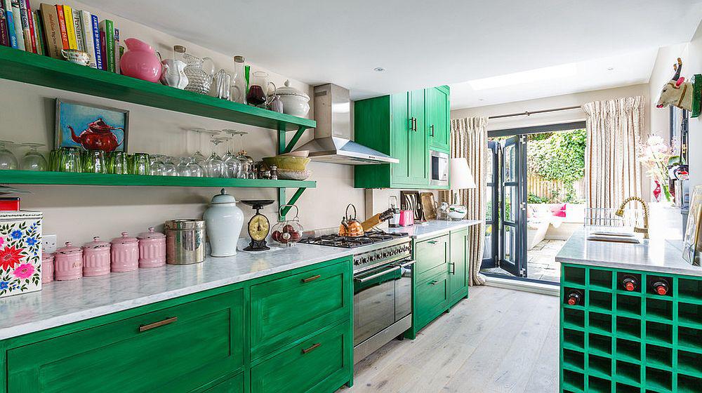 Những gam xanh tối màu tuyệt đẹp cho căn bếp hiện đại: Sạch, nổi bật và sang trọng khi kết hợp khéo léo với gam màu trắng và ánh sáng đèn trang trí - Ảnh 4