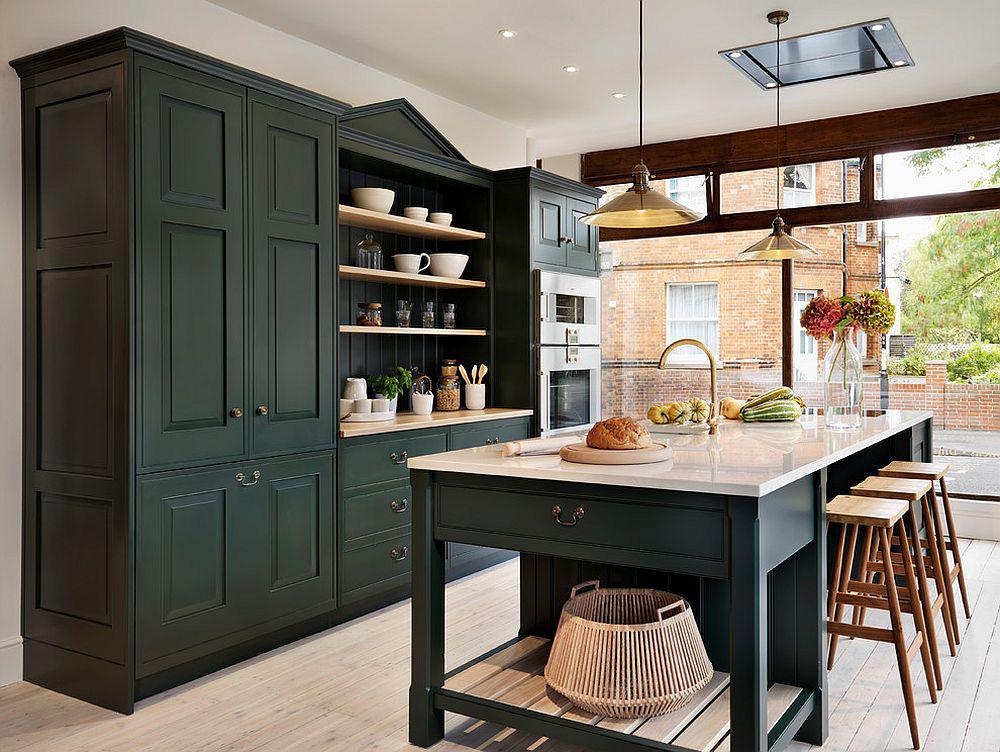 Những gam xanh tối màu tuyệt đẹp cho căn bếp hiện đại: Sạch, nổi bật và sang trọng khi kết hợp khéo léo với gam màu trắng và ánh sáng đèn trang trí - Ảnh 5