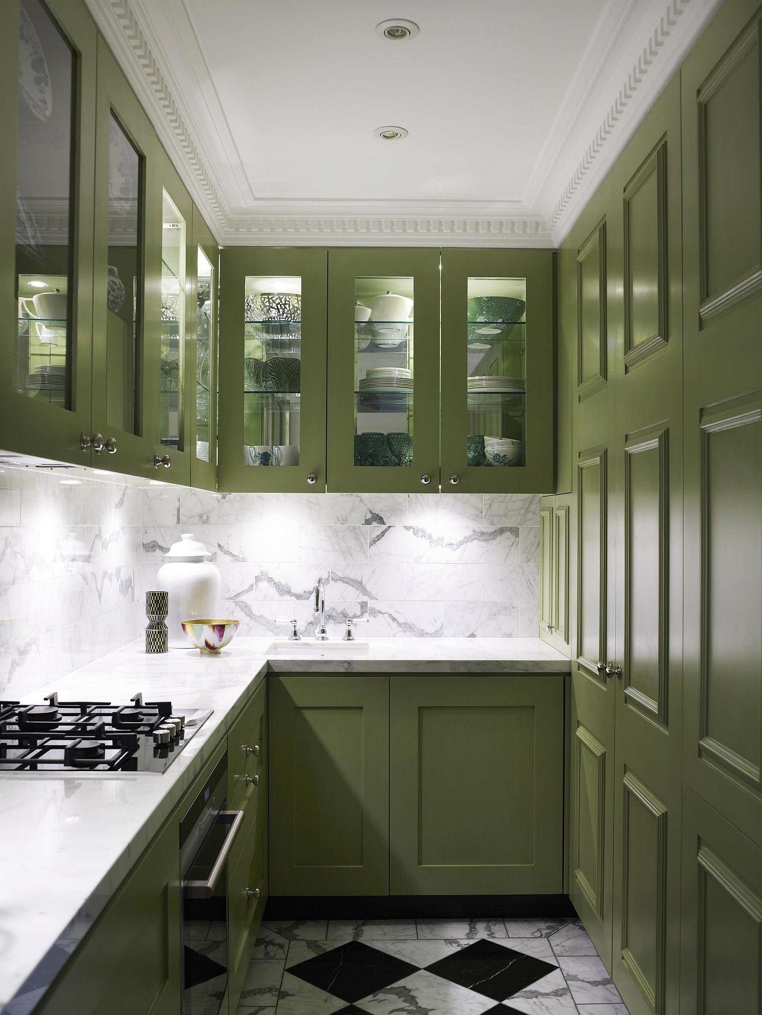 Những gam xanh tối màu tuyệt đẹp cho căn bếp hiện đại: Sạch, nổi bật và sang trọng khi kết hợp khéo léo với gam màu trắng và ánh sáng đèn trang trí - Ảnh 8