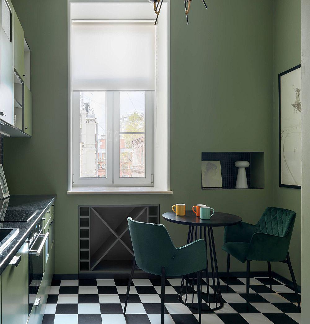 Những gam xanh tối màu tuyệt đẹp cho căn bếp hiện đại: Sạch, nổi bật và sang trọng khi kết hợp khéo léo với gam màu trắng và ánh sáng đèn trang trí - Ảnh 9