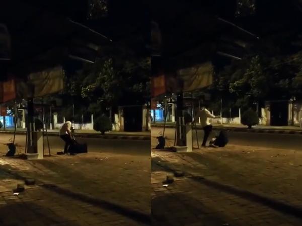 Clip gã đàn ông đánh đập cô gái dã man trong đêm 8/3 bất chấp lời van xin: 'Anh ơi đừng đánh nữa, em đau quá' - Ảnh 1