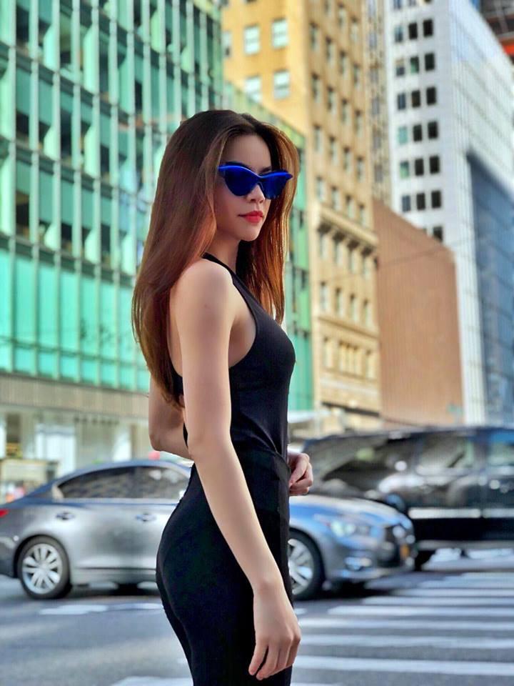 """Hồ Ngọc Hà tung loạt hình đẹp như siêu mẫu trên đường phố New York nhưng vẫn không thấy Kim Lý """"thả tim"""" - Ảnh 4"""