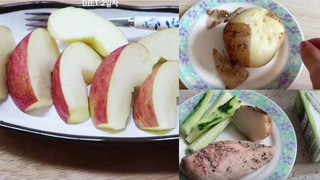 """Học theo """"bà chủ Hotel Del Luna"""" IU, vlogger Hàn Quốc gây ấn tượng với chế độ ăn giảm 3kg sau 3 ngày - Ảnh 4"""