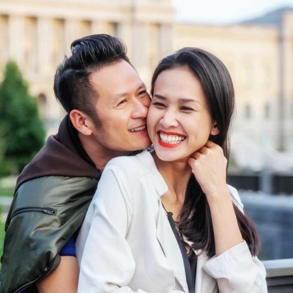 Hình ảnh hạnh phúc của Bằng Kiều và Dương Mỹ Linh thuở còn mặn nồng.