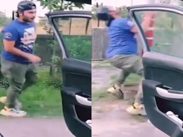 Chàng trai theo trào lưu chạy theo ôtô và cái kết đau điếng