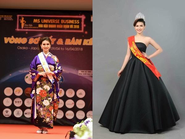 Người đẹp Diễm Trinh gương mặt sáng giá tại cuộc thi Hoa Hậu doanh nhân Hoàn Vũ 2018