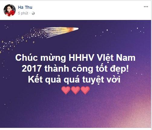 Loạt sao Việt nói gì về tân Hoa hậu Hoàn vũ Việt Nam 2017? - Ảnh 10