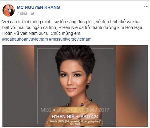 Loạt sao Việt nói gì về tân Hoa hậu Hoàn vũ Việt Nam 2017? - Ảnh 13