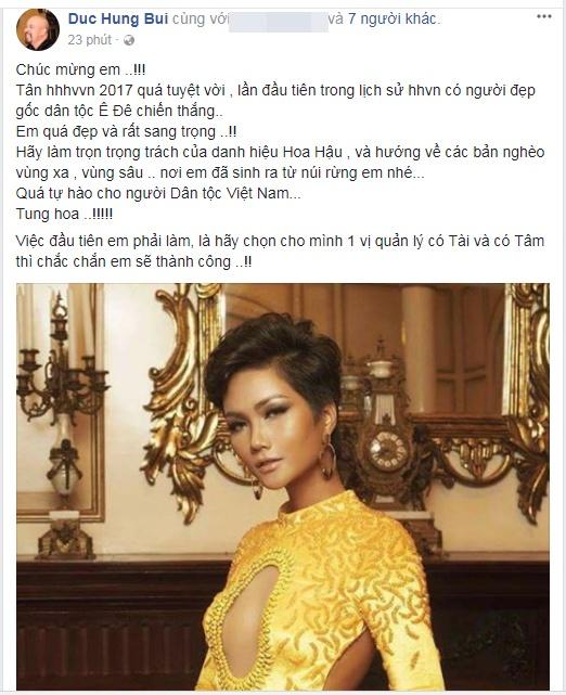 Loạt sao Việt nói gì về tân Hoa hậu Hoàn vũ Việt Nam 2017? - Ảnh 3