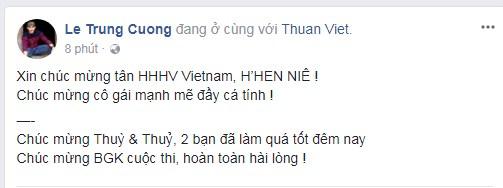 Loạt sao Việt nói gì về tân Hoa hậu Hoàn vũ Việt Nam 2017? - Ảnh 7