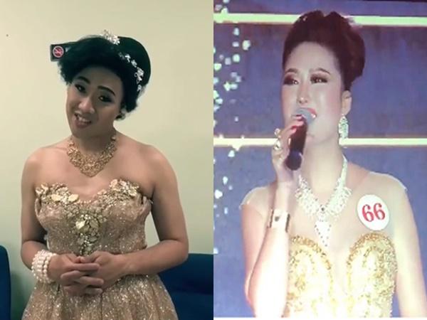 Cười 'rớt hàm' xem Trấn Thành tái hiện Phi Thanh Vân thi ứng xử Hoa hậu Doanh nhân tại Mỹ