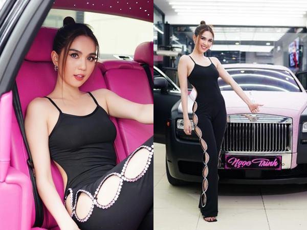 Loạt 'phú bà' showbiz Việt đọ dáng cùng 'xế hộp' màu hồng: Ngọc Trinh có bị 'lép vế' trước nhân vật này? - Ảnh 1