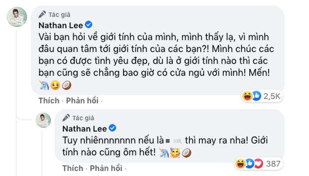 Bị netizen hỏi dồn dập về vấn đề giới tính, Nathan Lee có câu trả lời 'chất như nước cất' - Ảnh 2
