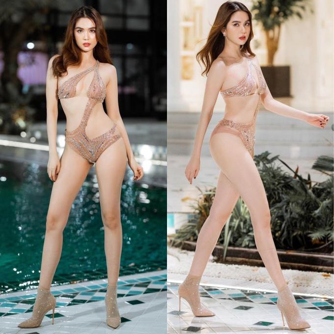 Ngọc Trinh lại khiến dân mạng 'xịt máu mũi' với những bộ bikini xẻ 'sâu hun hút', có bộ 'mặc như không mặc' - Ảnh 2