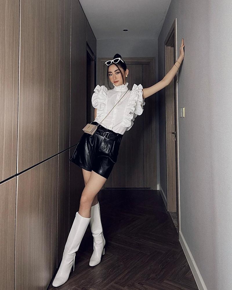 Top những sao nữ Việt 'lên đồ' cực xinh mùa giãn cách: Chi Pu sexy táo bạo, Thiều Bảo Trâm ngày càng 'bánh bèo' - Ảnh 7