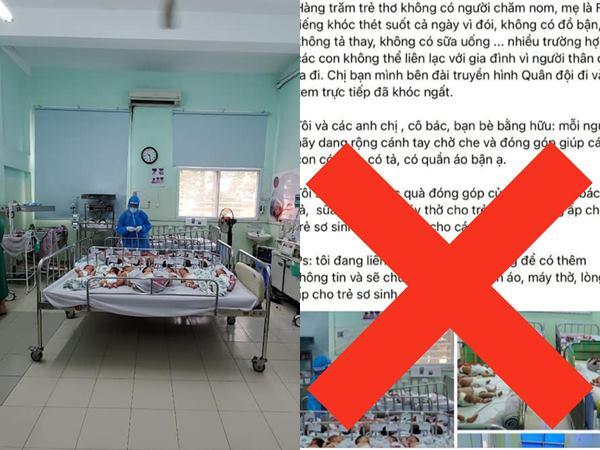 Trang chính thức của bệnh viên Hùng Vương đính chính thông tin các bé sơ sinh thiếu tã, sữa: 'Đây là những thông tin sai sự thật!'