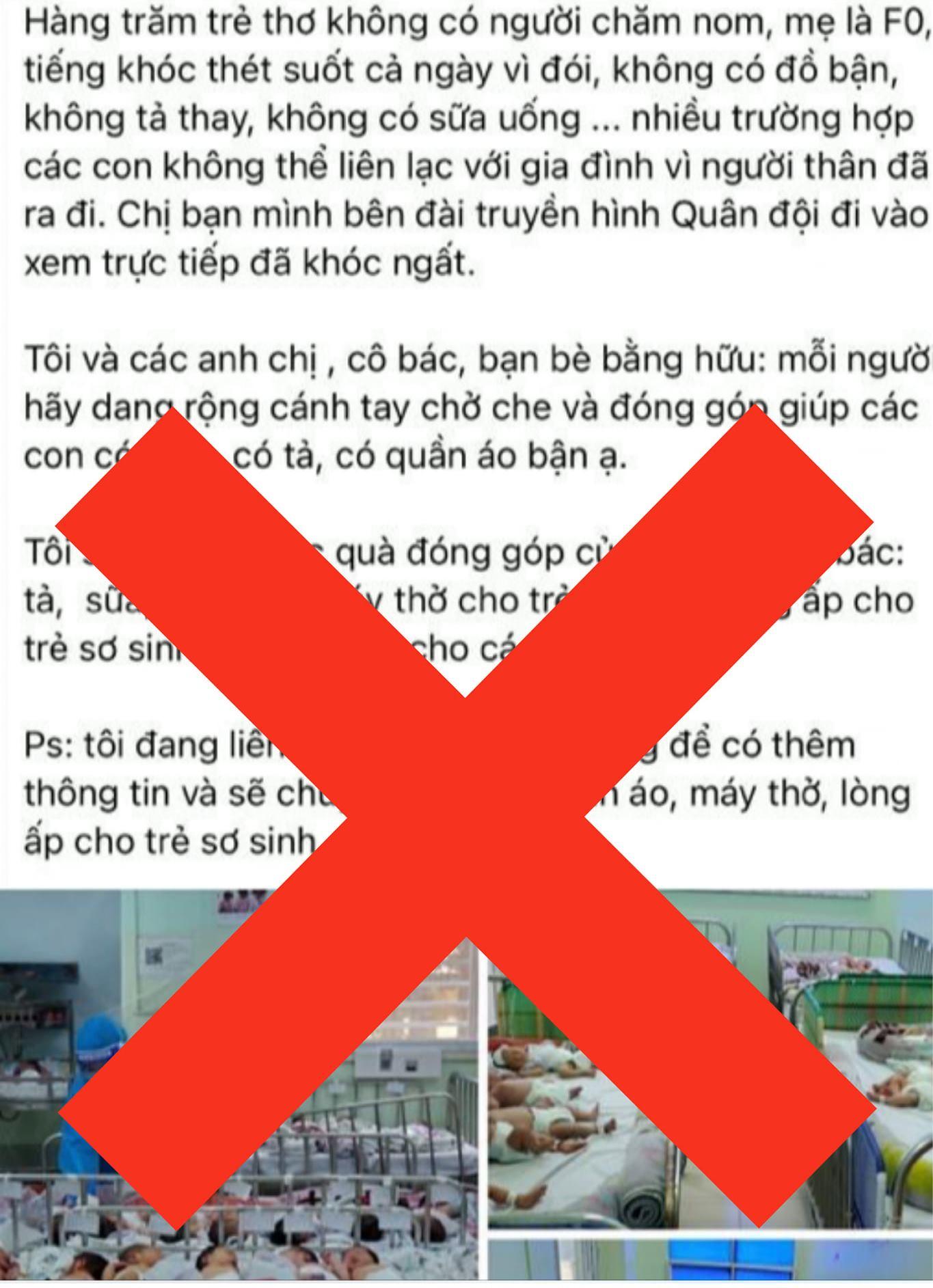 Trang chính thức của bệnh viên Hùng Vương đính chính thông tin các bé sơ sinh thiếu tã, sữa: 'Đây là những thông tin sai sự thật!' - Ảnh 2