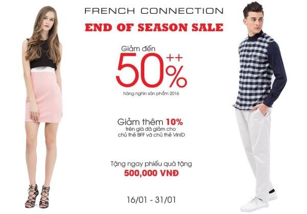 Từ ngày 16 - 31/01/2017 thời trang French Connection khuyến mãi giảm giá 50% - Ảnh 1