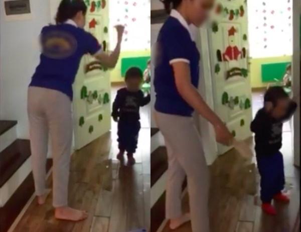Clip cô giáo mầm non dùng dép đánh trẻ ở trường mầm non nổi tiếng Hà Nội gây xôn xao - Ảnh 1