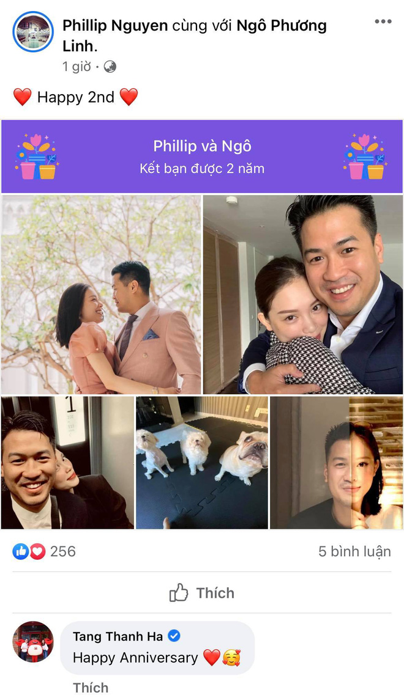 Phillip Nguyễn - Linh Rin kỷ niệm 2 năm hẹn hò, Hà Tăng có động thái đặc biệt - Ảnh 1