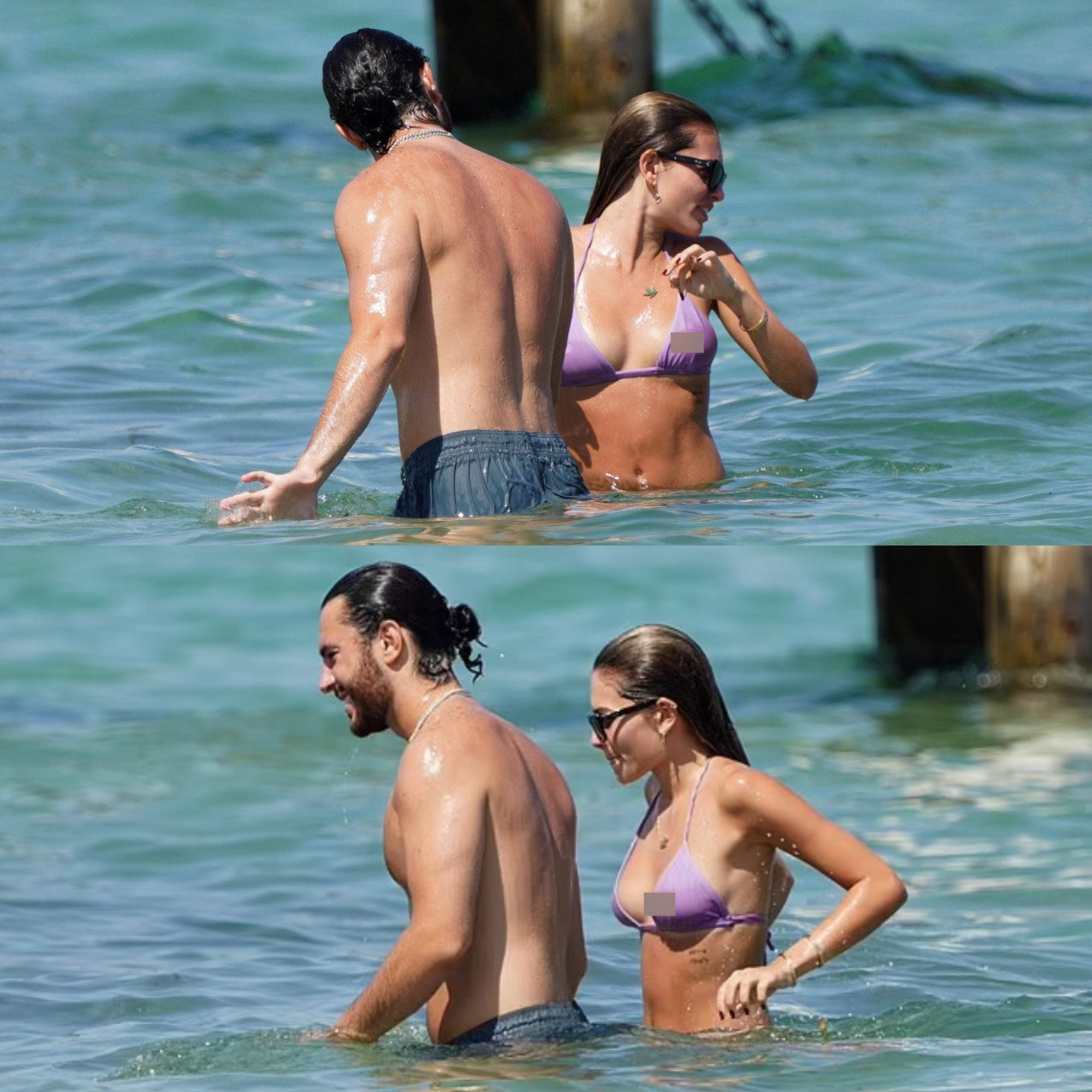 Người mẫu từng được mệnh danh 'cô bé đẹp nhất thế giới' gây sốt khi dậy thì thành công, diện bikini trên biển cùng bạn trai vô cùng 'nóng mắt' - Ảnh 5