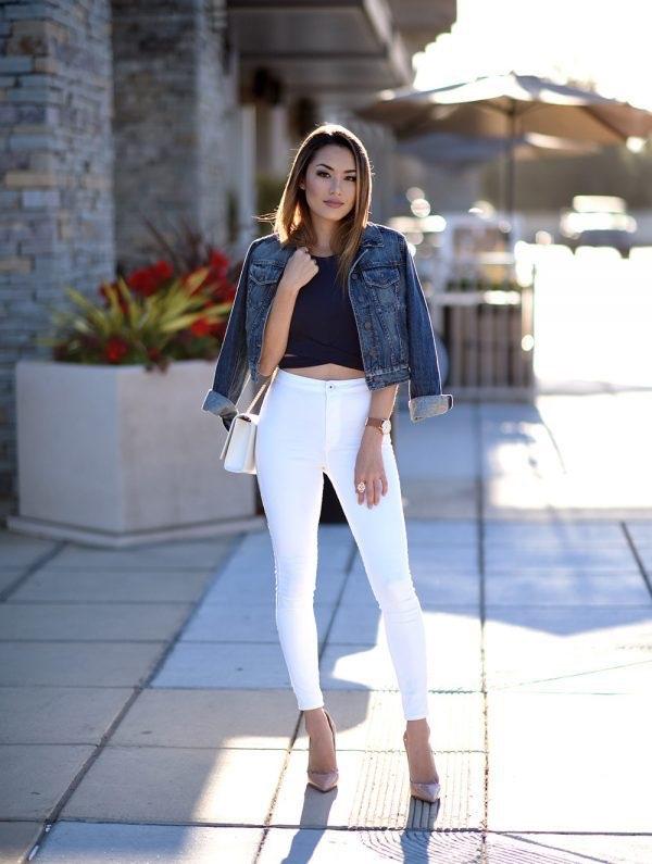 quan skinny jeans trang