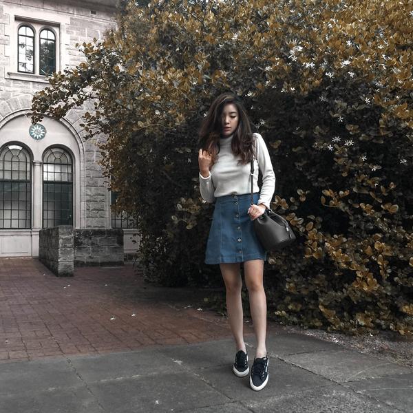 Bí quyết phối chân váy bò với từng loại áo cực chuẩn: Muốn mặc đẹp và sành điệu chẳng có gì khó - Ảnh 13