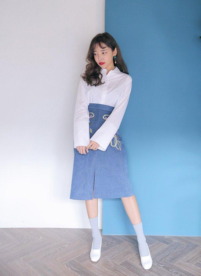 Bí quyết phối chân váy bò với từng loại áo cực chuẩn: Muốn mặc đẹp và sành điệu chẳng có gì khó - Ảnh 7