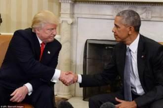 Tổng thống Mỹ Barack Obama gặp mặt tân Tổng thống Donald Trump tại Nhà Trắng