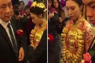 Xôn xao video lấy chồng đại gia 70 tuổi, cô gái 20 tuổi được tặng 20kg vàng đeo trĩu cổ
