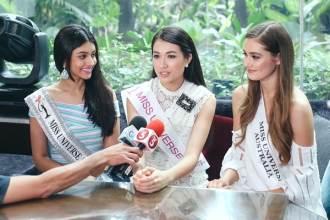 Lệ Hằng trả lời truyền thông quốc tế tại Miss Universe bằng tiếng Việt