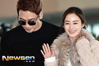 Kim Tae Hee và Bi Rain lần đầu xuất hiện sau đám cưới