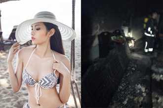 Hoa hậu Diệu Linh chia sẻ chuyện cháy nhà rạng sáng 30 Tết