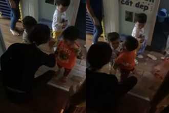 Xuất hiện thêm clip cô giáo quát nạt, dí roi vào mặt trẻ được cho là ở trường MN Sen Vàng
