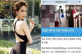 Tờ Dispatch Hàn Quốc khen Ngọc Trinh có đường cong gợi cảm