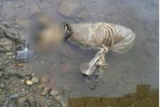 Xót xa với hình ảnh chú chó nhỏ bị buộc chân tay chết trôi trên sông