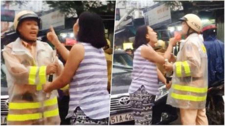 Người phụ nữ vi phạm luật giao thông chửi bới, thóa mạ chiến sĩ CSGT có thể bị xử lý hình sự? - Ảnh 1