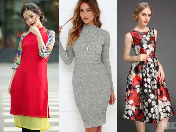 5 mẫu váy mặc Tết khiến chị em tự tin hơn