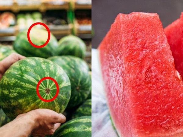 Nhìn 3 giây biết ngay đâu là quả dưa hấu mọng nước, ngon ngọt, ruột đỏ tươi, không bị 'chín ép'